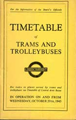 1943 Tram timetables