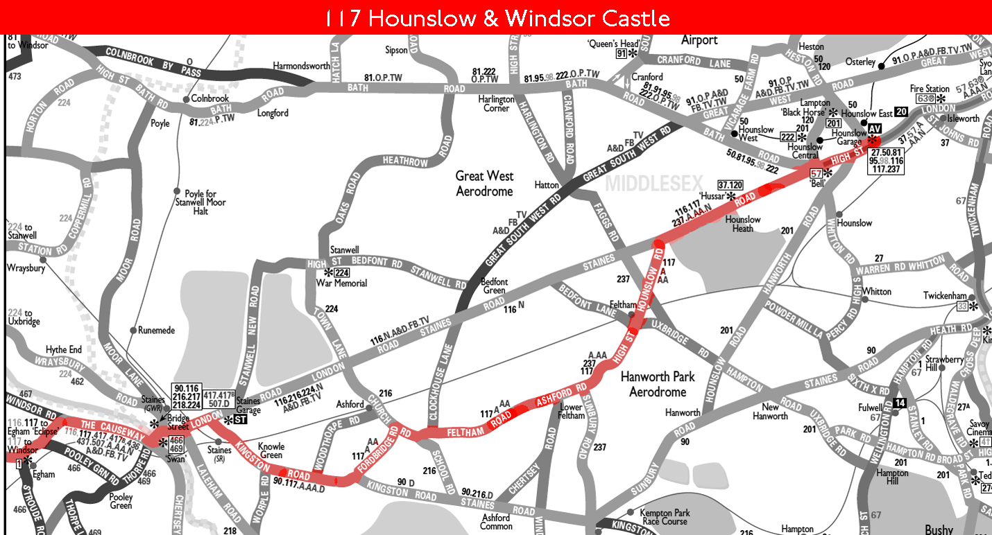 london bus route 117