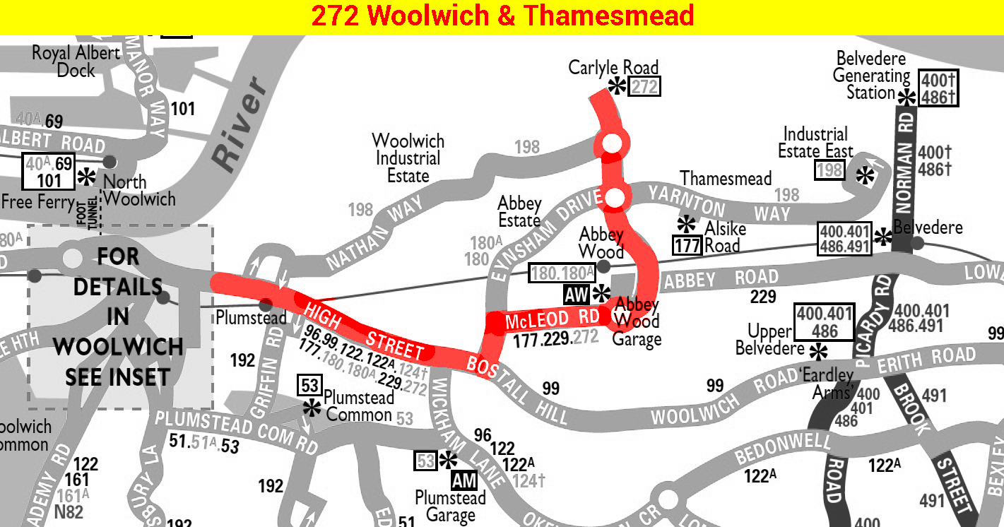 Route 272 map at 1976