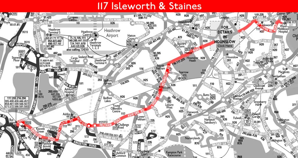 London Bus Route 117 on