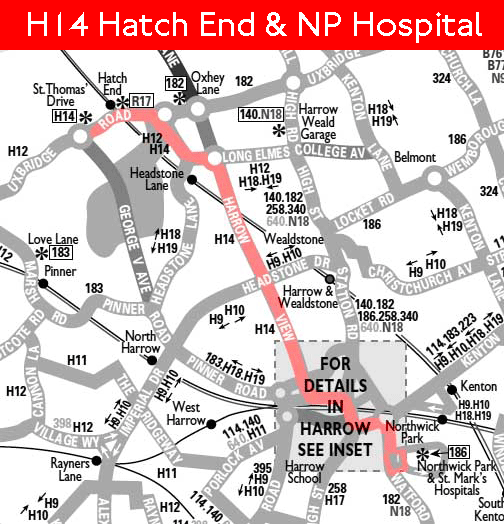 H14 map